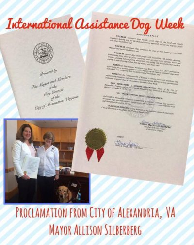 The 2017 International Assistance Dog Week Proclamations Are In!