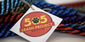 505 Leash Project logo and leashes
